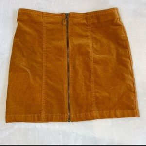 FOREVER 21 Wide Wale Corduroy Rust Girls Skirt